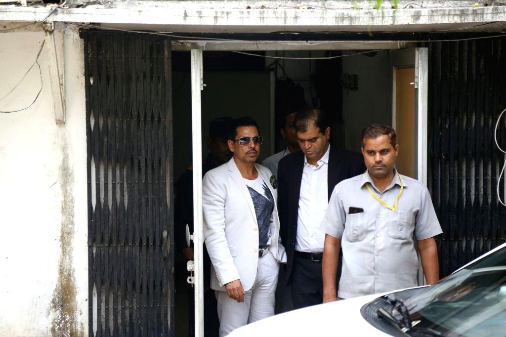 Robert Vadra, husband of Congress General Secretary (Uttar Pradesh East) Priyanka Gandhi Vadra, arrives to appear before the Enforcement Directorate (ED) in connection with a case of ... - Priyanka Gandhi Vadra