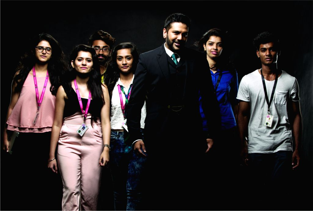 Rocky.s with students of JD Institute of Fashion Technology