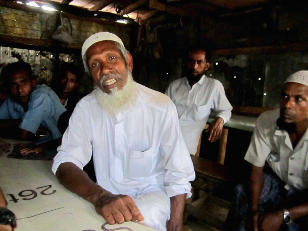 Rohingya refugee Dil Mohammad at a refugee camp in Jammu city of Jammu and Kashmir.