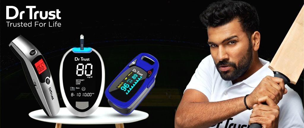 Rohit Sharma named brand ambassador of Dr Trust. - Rohit Sharma