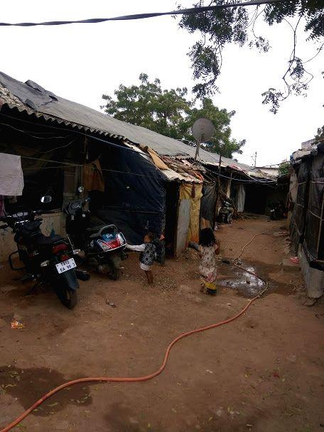 Rohnigya camp at Balapur in Hyderabad.