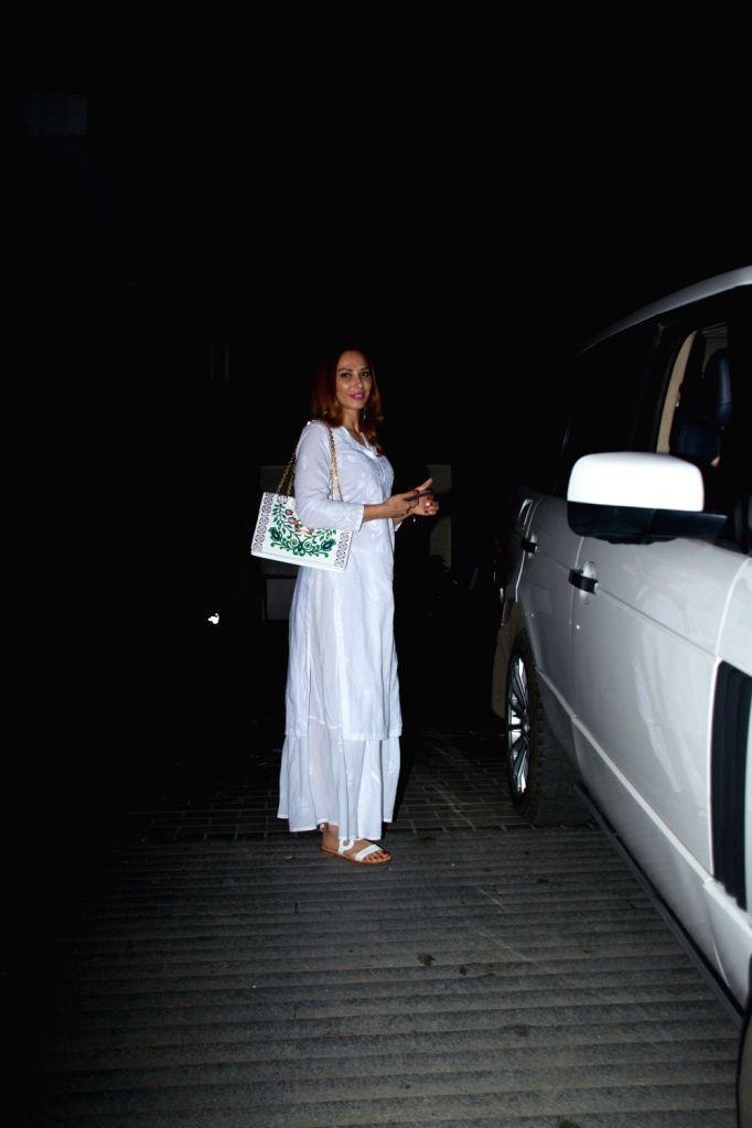 Romanian TV presenter Iulia Vantur seen at a salon in Bandra, Mumbai on Aug 8, 2018.