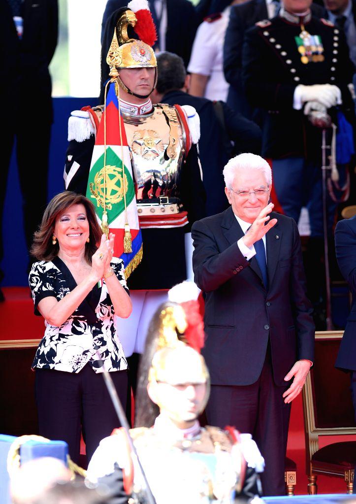 ROME, June 2, 2018 - Italian President Sergio Mattarella (R) and Senate Speaker Maria Elisabetta Alberti Casellati attend the ceremony marking the Republic Day in Rome, Italy, on June 2, 2018. - Maria Elisabetta Alberti Casellati