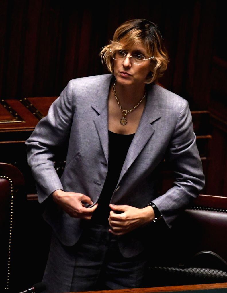 ROME, June 6, 2018 - Italian Minister of Public Administration Giulia Bongiorno is seen in the lower house of Italy's parliament in Rome, Italy, on June 6, 2018. The new Italian government cleared ...