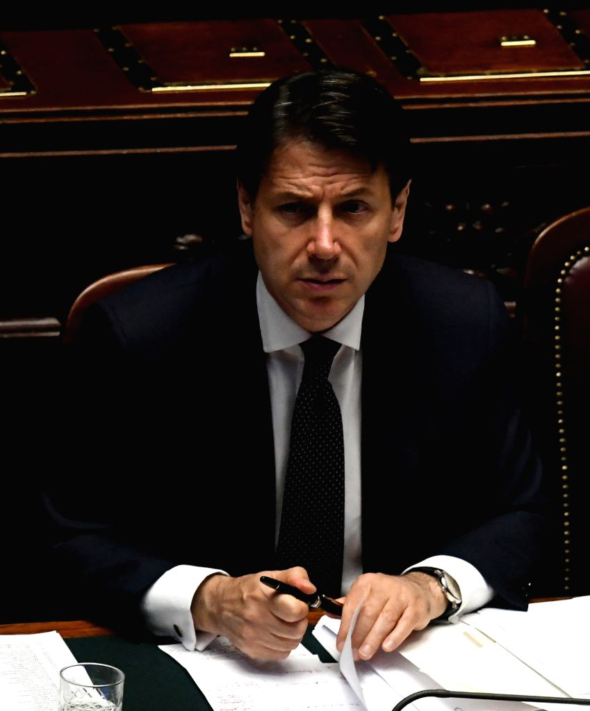 ROME, June 6, 2018 - Italian Prime Minister Giuseppe Conte is seen in the lower house of Italy's parliament in Rome, Italy, on June 6, 2018. The new Italian government cleared its second ... - Giuseppe Conte