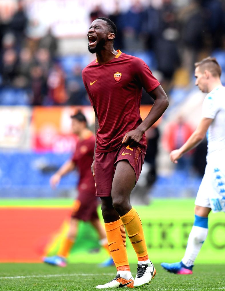 ROME, March 5, 2017 - Roma's Antonio Rudiger reacts after the Italian Serie A football match against Napoli in Rome, Italy, March 4, 2017. Roma lost 1-2.