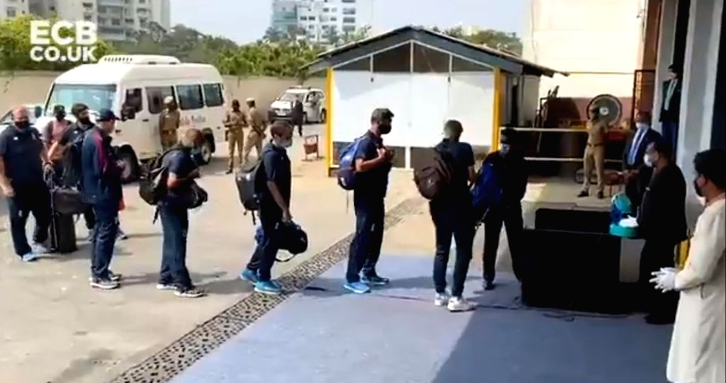 Root-led England team arrives in Chennai ahead of Test series (Credit: @englandcricket/Twitter)