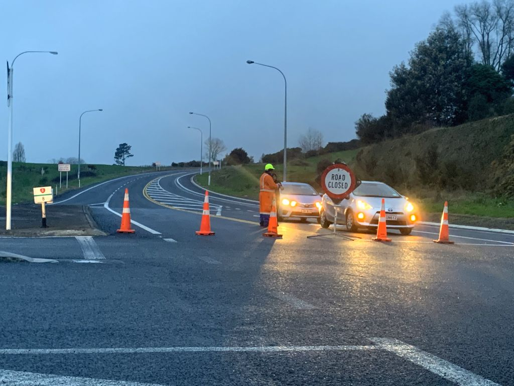 ROTORUA, Sept. 4, 2019 - Roads near the site of a bus crash are blockaded in Rotorua, New Zealand, Sept. 4, 2019. The Chinese embassy in New Zealand confirmed Wednesday that six Chinese tourists were ...