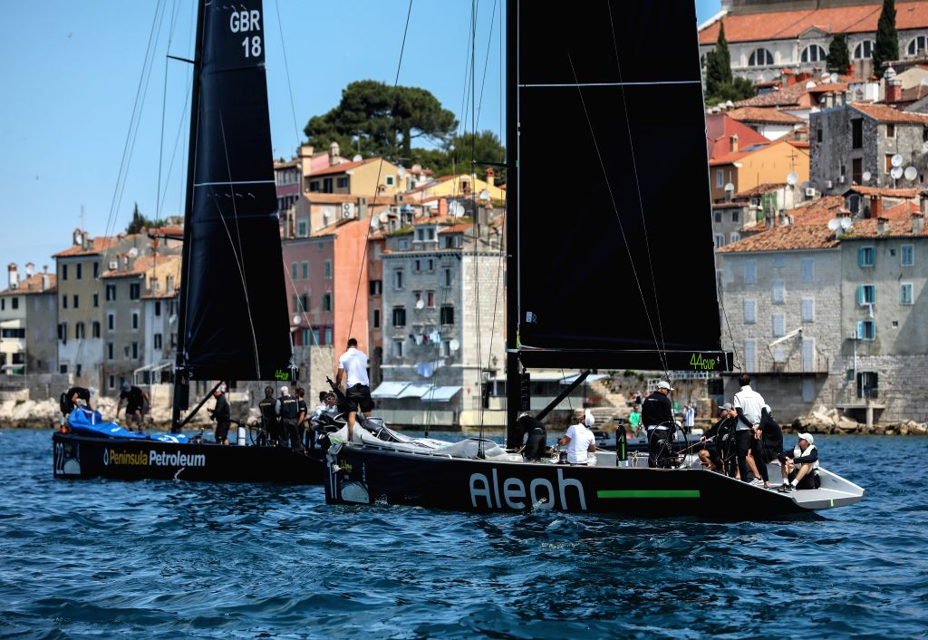ROVINJ, June 2, 2019 - Sailboats are seen during the Adris 44Cup sailing regatta in Rovinj, Croatia, June 1, 2019.