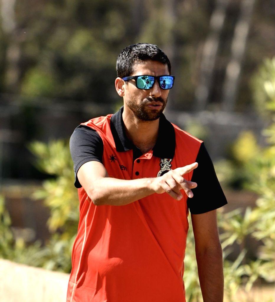 Royal Challengers Bangalore coach Ashish Nehra at M. Chinnaswamy Stadium in Bengaluru on Feb 4, 2019. - Ashish Nehra