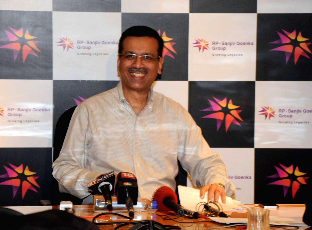 RP-Sanjiv Goenka Group chairman Sanjiv Goenka addresses a press conference in Kolkata on July 25, 2014. - Sanjiv Goenka Group