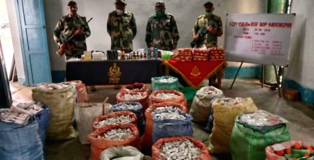 Rs 23 lakh cosmetics, medicines seized at India-Bangladesh border