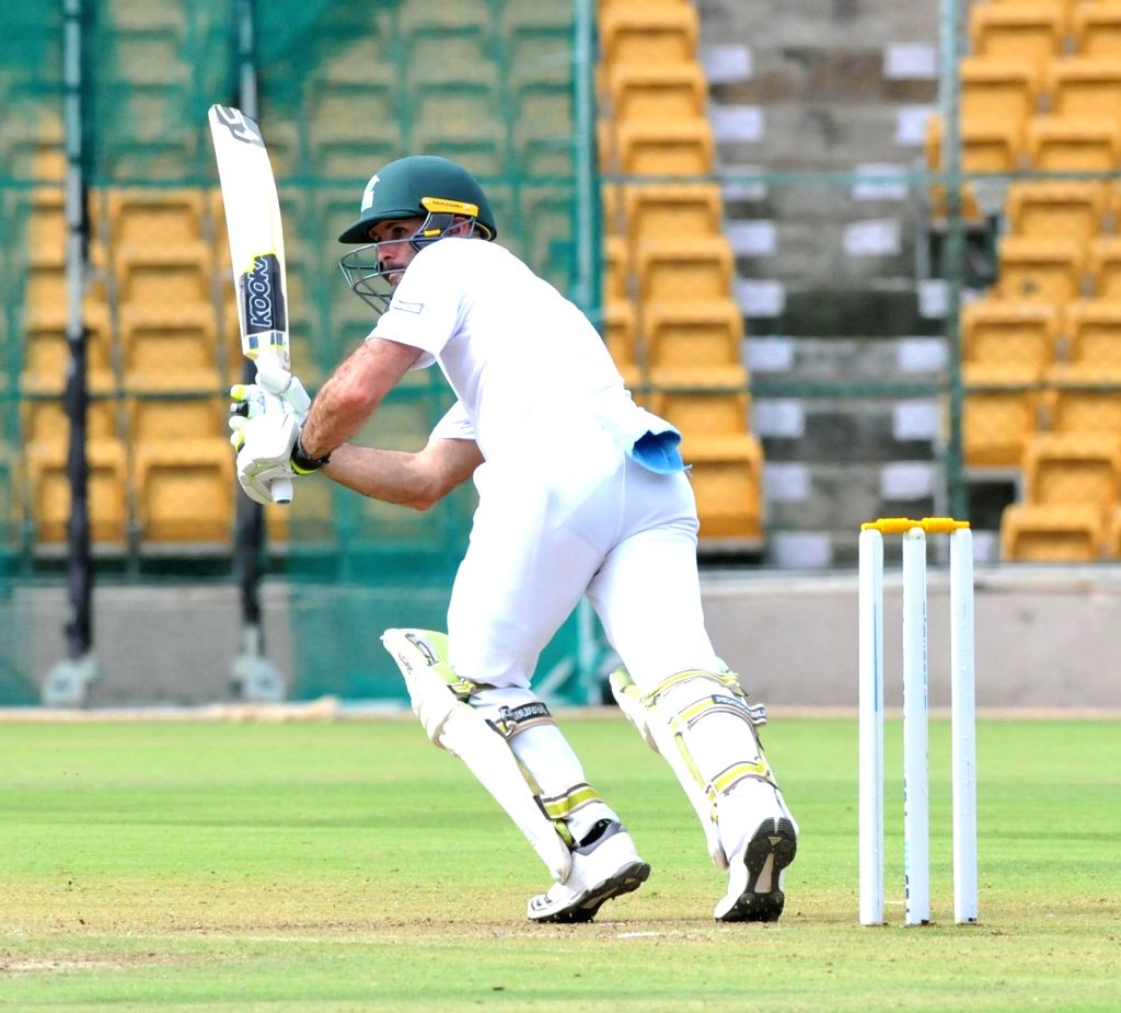 Rudi Second of South Africa A in action on 1st day of the four day test match between India A and South Africa A at M Chinnaswamy Stadium, in Bengaluru on Aug 4, 2018.