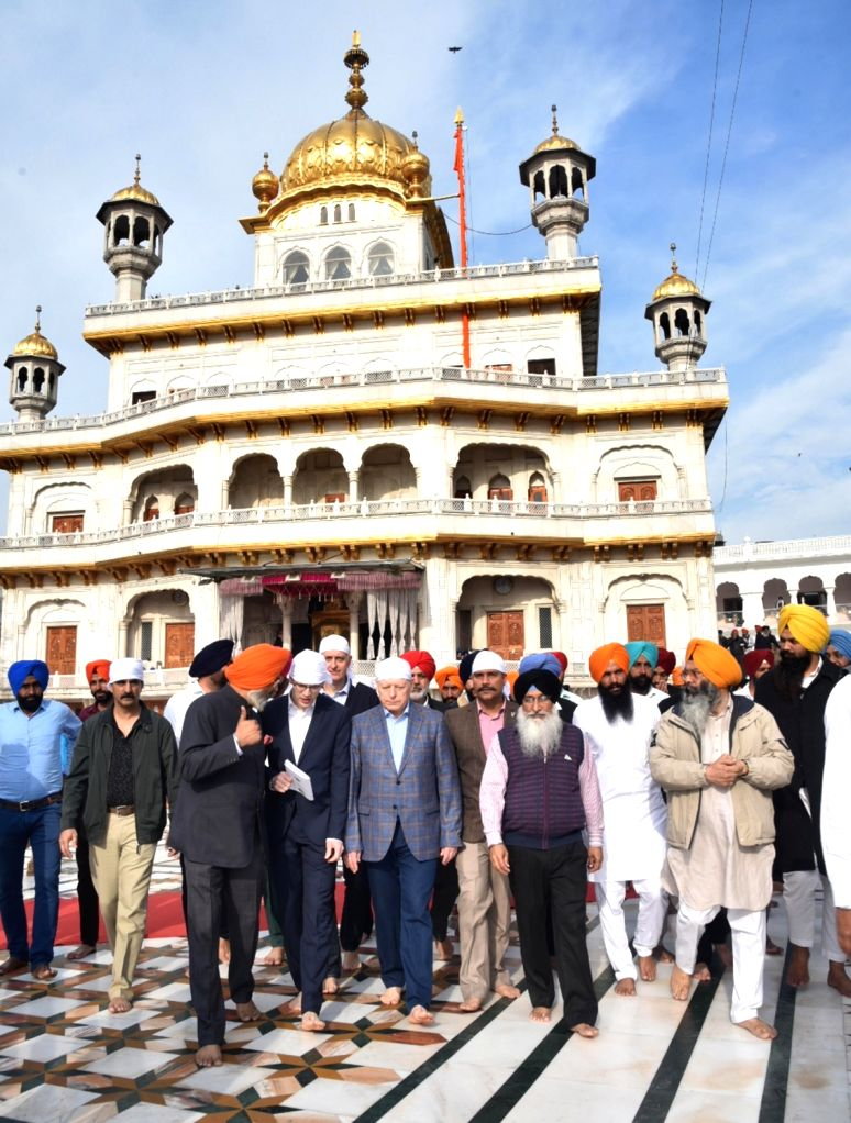Russian Ground Forces Commander-in-Chief Colonel-General Oleg Salyukov during his visit to the Golden Temple in Amritsar, on March 13, 2019.