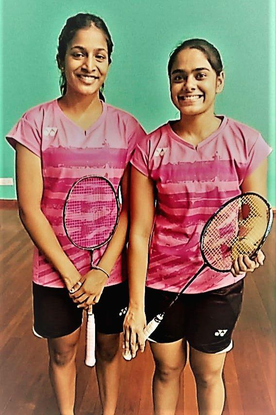 Rutaparna Panda and Gayatri Gopichand Pullela at All India Senior Ranking Badminton Tournament-2019