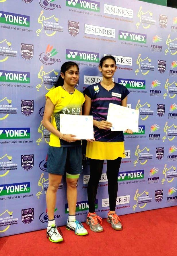 Ruthvika Shivani (R) with Shruti Mundada.