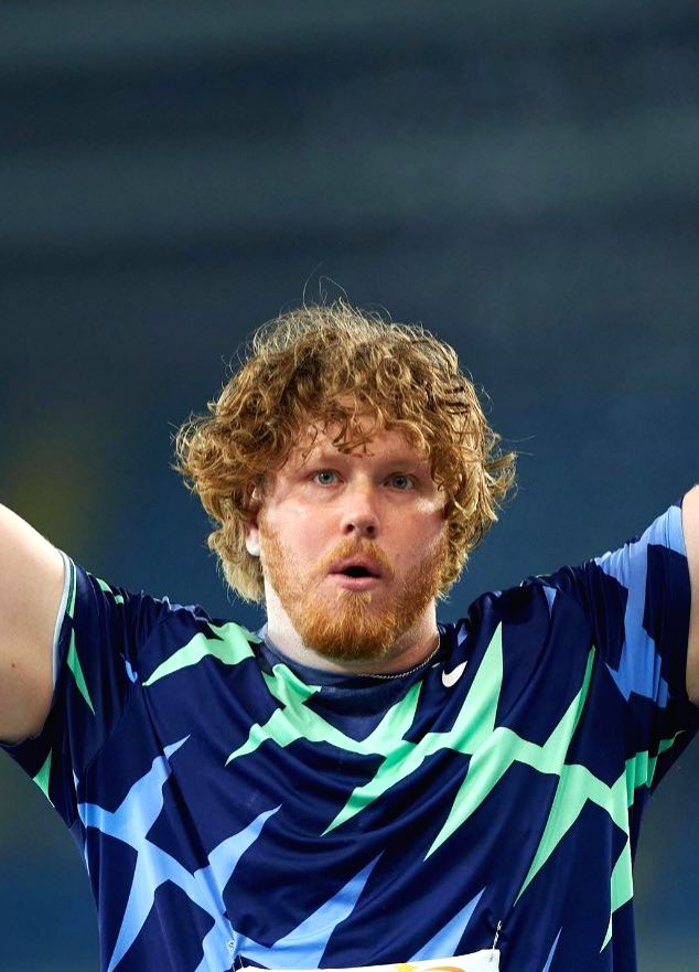 Ryan Crouser breaks world indoor shot put record.(photo:Twitter)