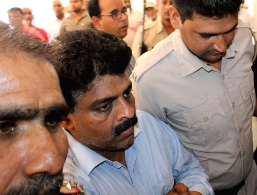 Ryan International School's northern India head Francis Thomas in police custody in Gurugram on Sept 18, 2017.
