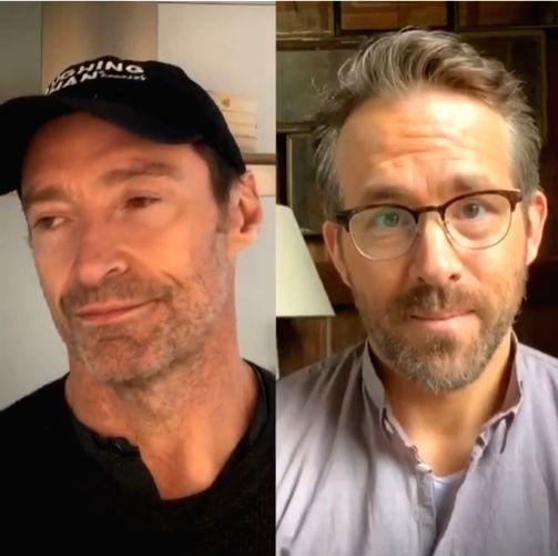 Ryan Reynolds, Hugh Jackman pause fun feud for COVID-19 relief.