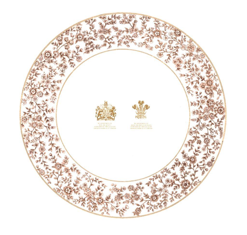 Sabyasachi for Thomas Goode & co design 2 ( Back) Bottom Plate