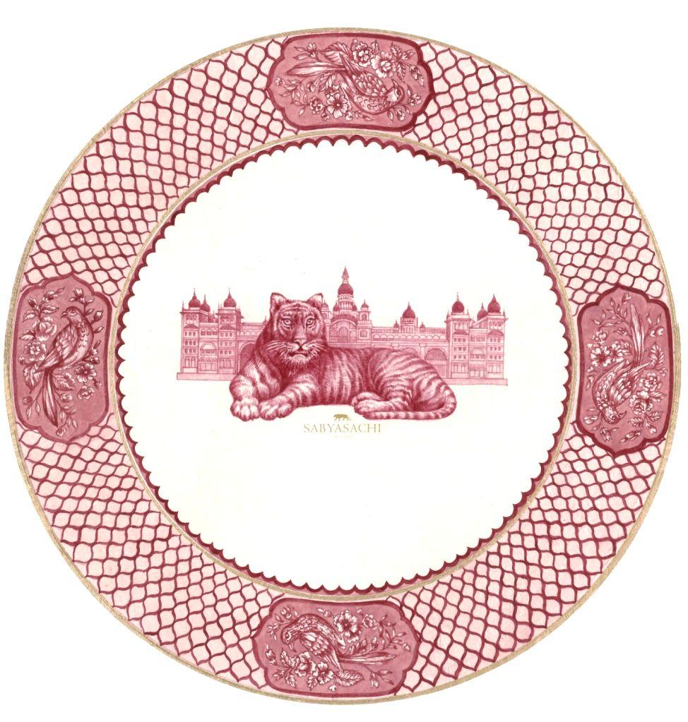 Sabyasachi for Thomas Goode & co Design 4 ( Front) top plate design