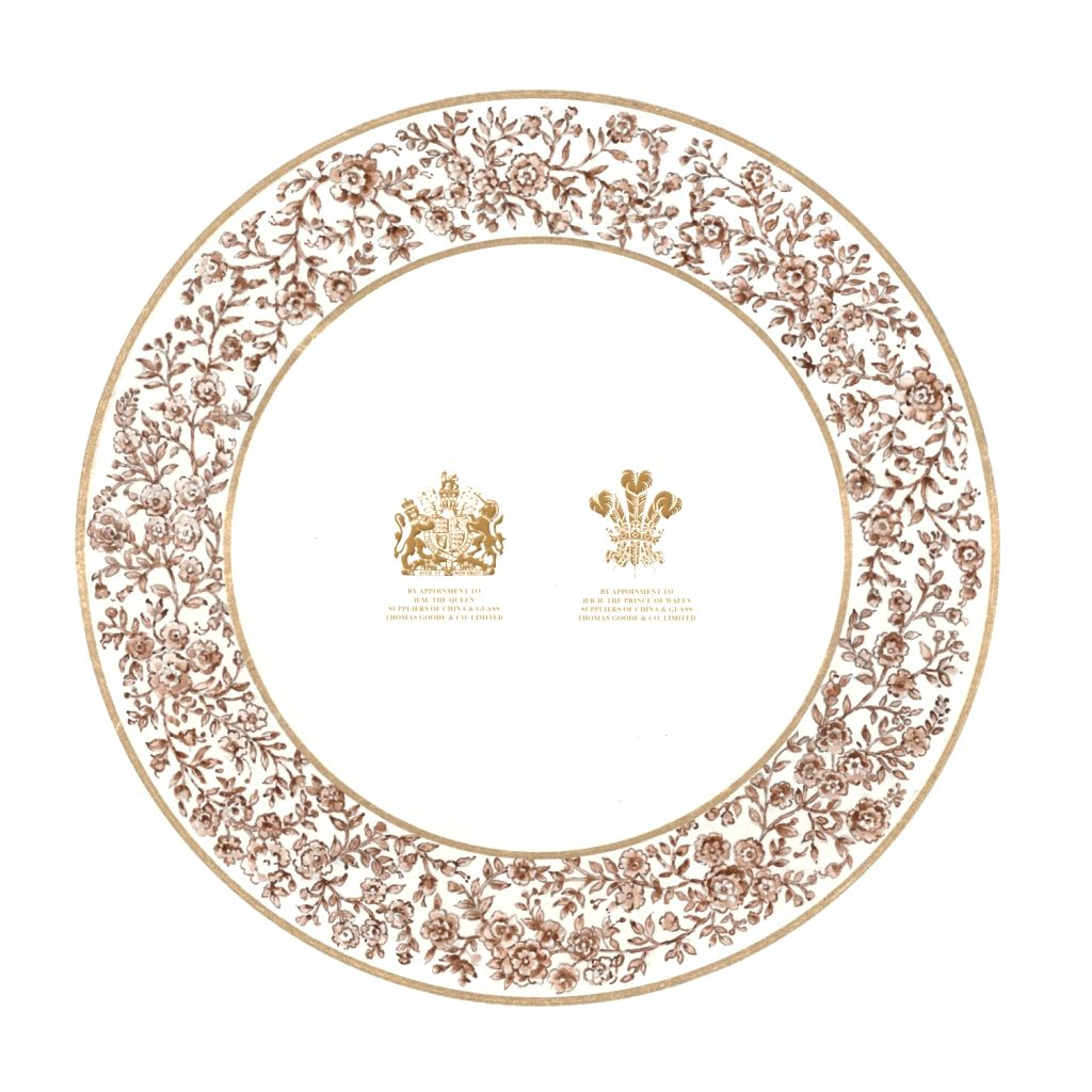 Sabyasachi for Thomas Goode & co Design 5 ( back) top plate design