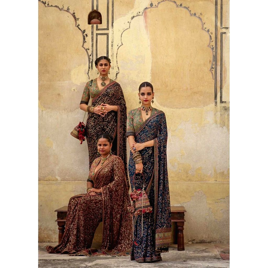 Sabyasachi Mukherjee uses Bandhani in his Fall Winter 2019 collection. - Sabyasachi Mukherjee