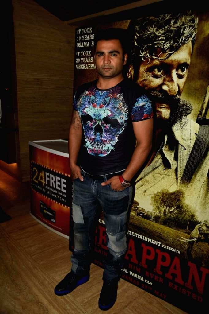 Sachin Joshi during the trailer launch of film Veerappan in Mumbai on April 18, 2016. - Sachin Joshi