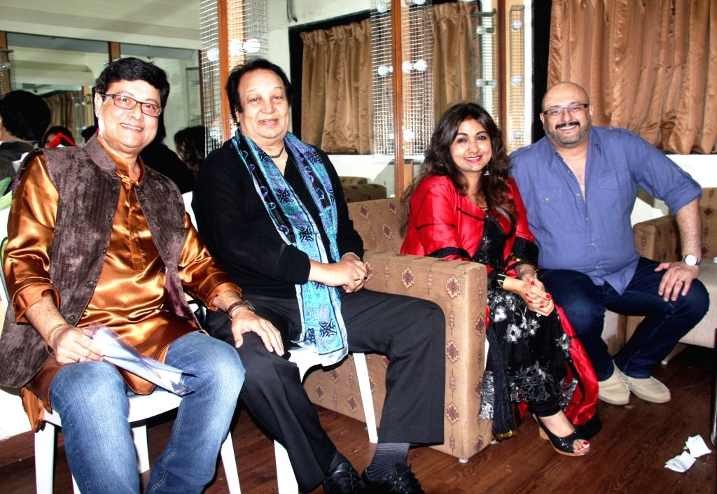 Sachin Pilgaonkar, Bhupinder Singh, Mitali Singh and Raju Singh during the 77th birthday celebration of late Bollywood music director R D Burman, in Mumbai on June 24, 2016. - R D Burman, Bhupinder Singh, Mitali Singh and Raju Singh