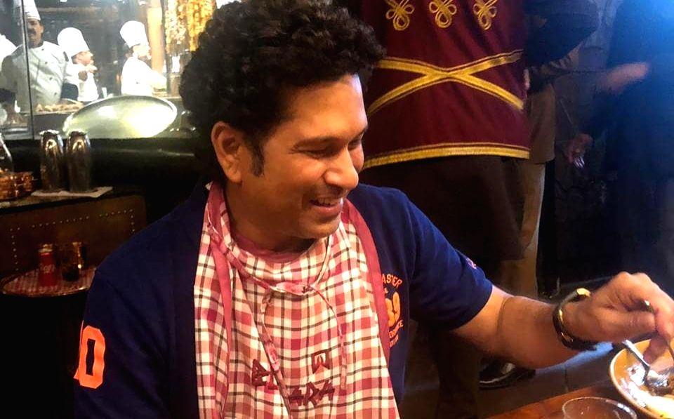 Sachin Tendulkar at Bukhara eatery at the ITC Maurya. (Photo: sachintendulkar/Instagram). - Sachin Tendulkar
