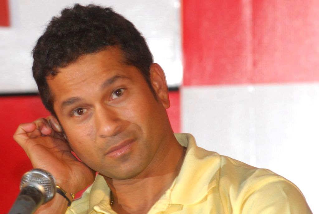 Sachin Tendulkar, Brand ambassador Canon at a press conference in Kolkata on 2nd June 2009.