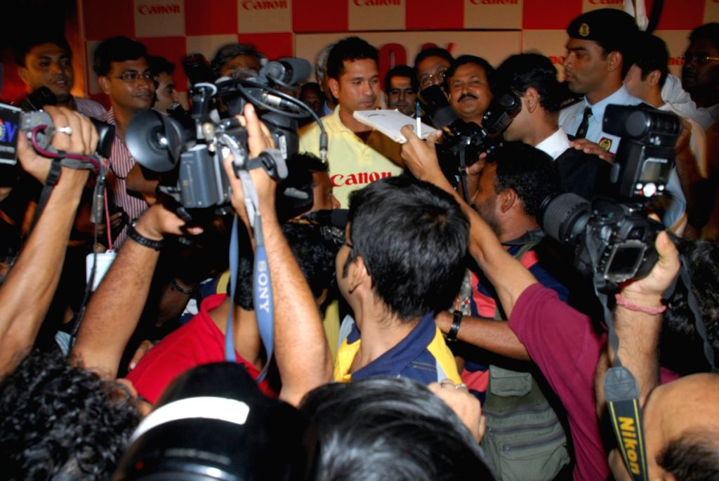 Sachin Tendulkar, Brand ambassador of Canon at a function in Kolkata on 2nd June 2009.