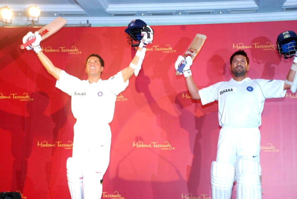Sachin Tendulkar's Wax Statue for Madame Tussauds unveiled in Mumbai.