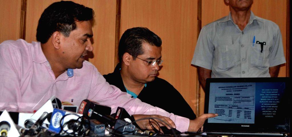 Sacked Delhi minister Kapil Mishra addresses a press conference in New Delhi on June 2, 2017. - Kapil Mishra
