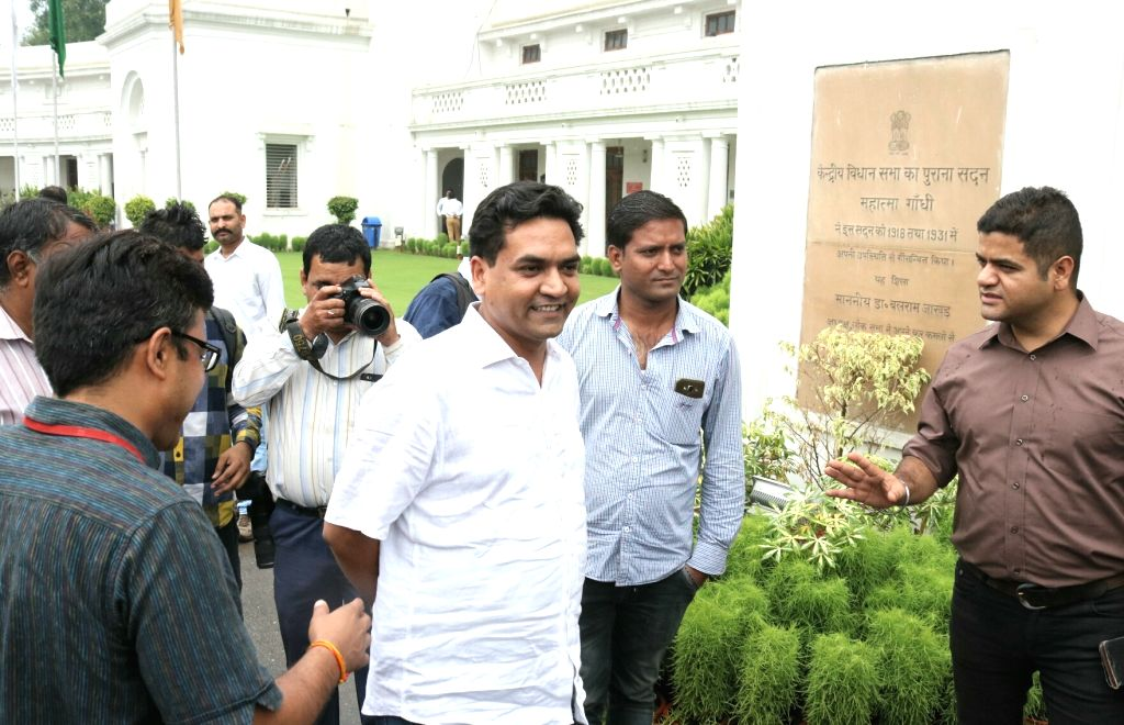 Sacked Delhi minister Kapil Mishra at Delhi Assembly on May 31, 2017. - Kapil Mishra