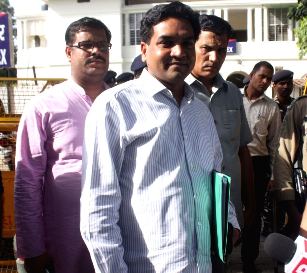 """Sacked Delhi Minister Kapil Mishra comes out after meeting ACB chief MK Meena in New Delhi on June 13, 2017. Mishra submitted documents regarding distribution of """"fake CNG kits"""" ... - Kapil Mishra"""