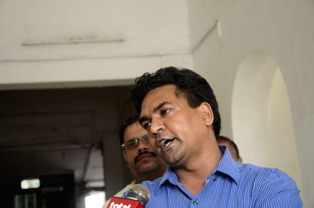 Sacked Minister Kapil Mishra at Delhi legislative assembly on July 3, 2017. - Kapil Mishra