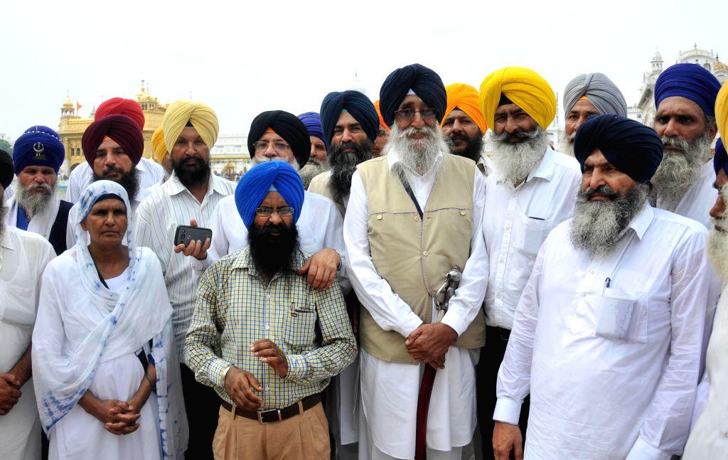 SAD (Amritsar) President Simranjit Singh Mann pays obeisance at the Golden Temple in Amritsar on July 27, 2014.