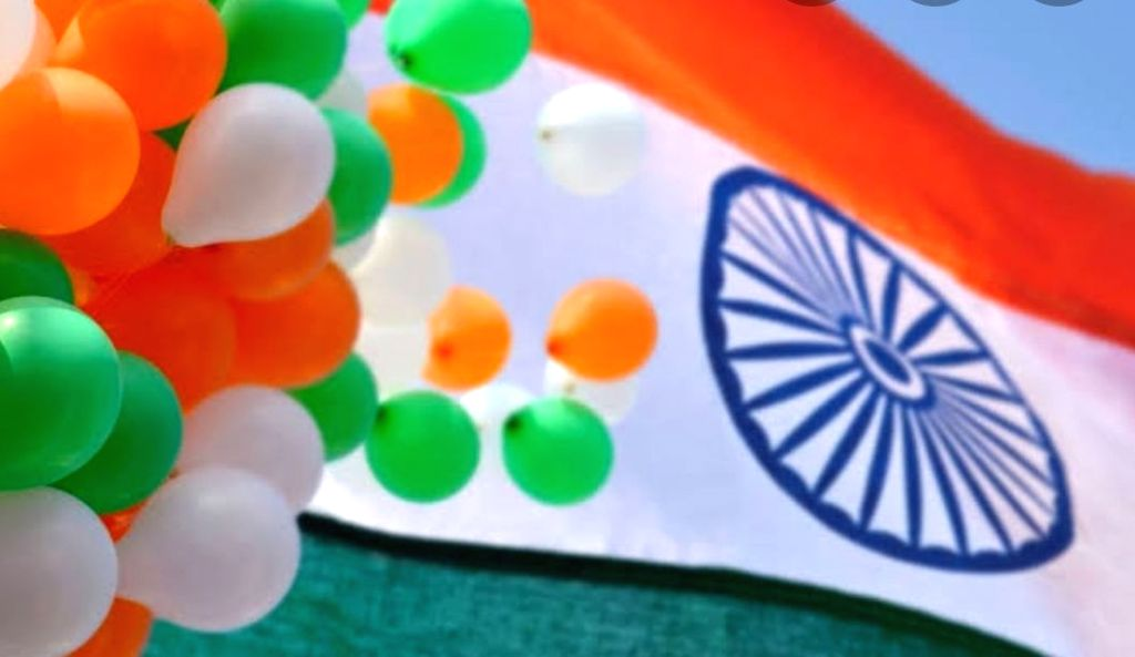 Saffron, white & green dominate Lucknow Clock Tower.