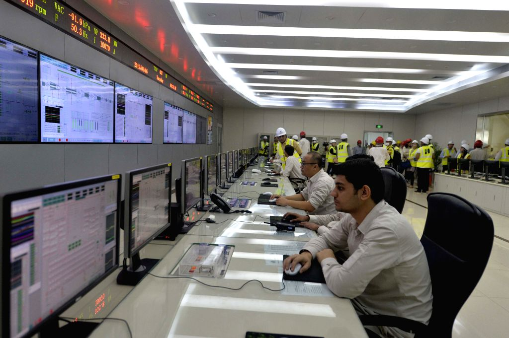 SAHIWAL (PAKISTAN), Aug. 11, 2019 People work in the control room of the Sahiwal Coal Power plant in Sahiwal, Punjab Province, Pakistan, on Aug. 6, 2019. Power plants under the ...