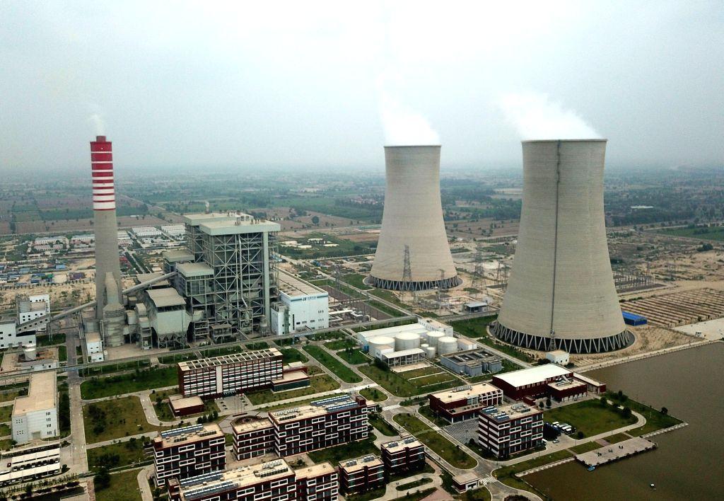 SAHIWAL (PAKISTAN), Aug. 11, 2019 The aerial photo taken on Aug. 6, 2019 shows the Sahiwal Coal Power plant in Sahiwal, Punjab Province, Pakistan. Power plants under the China-Pakistan ...