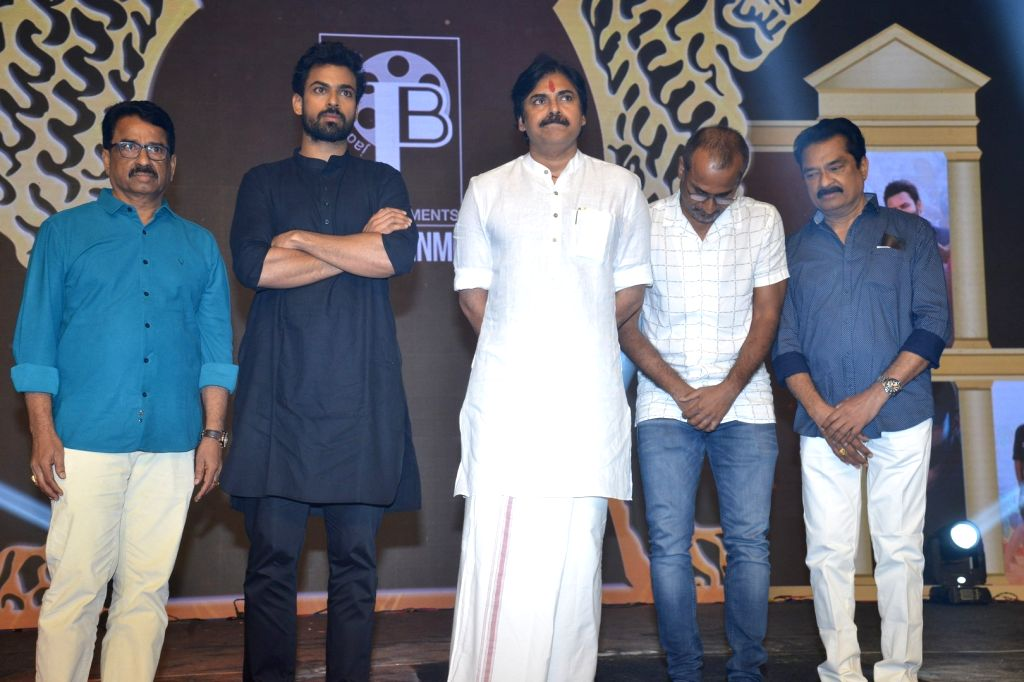 Sai Dharam Tej acted Republic Movie Pre Release Event held at JRC Convention Center, Madapur, Hyderabad.