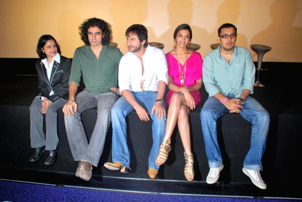 "Saif Ali Khan and Deepika Padukone at a press meet of movie ""Love Aaj Kal"" at PVR, in Mumbai. - Deepika Padukone"