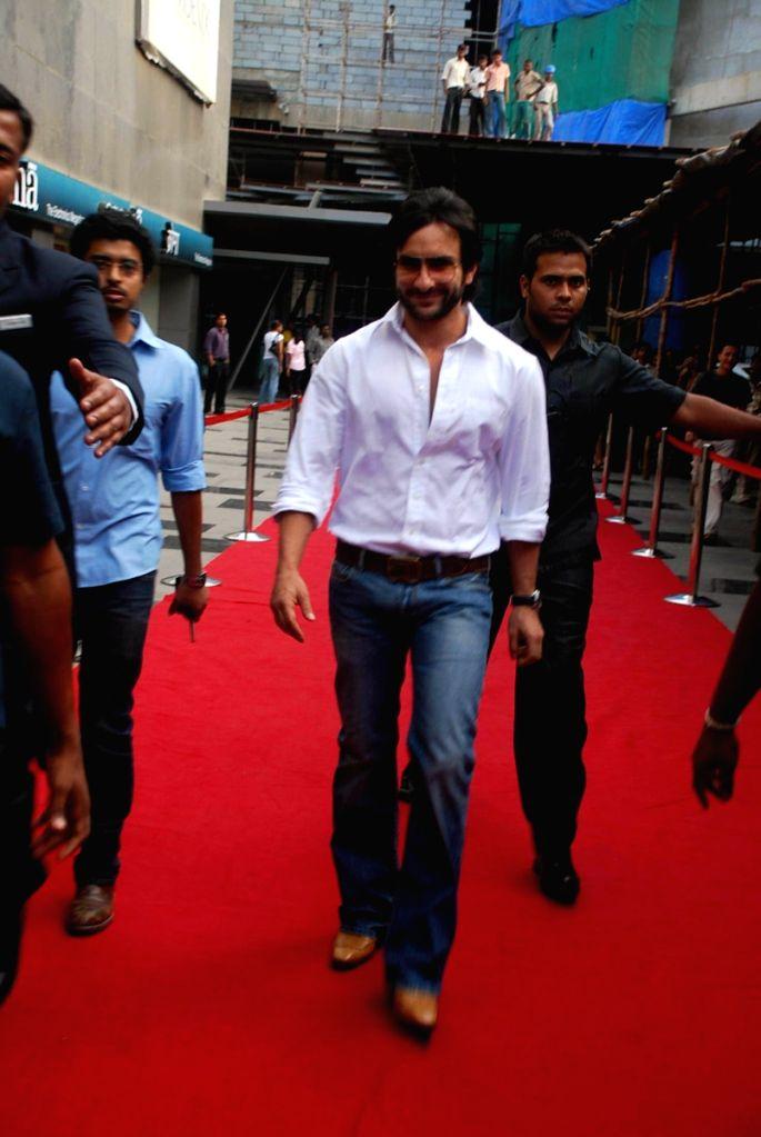 "Saif Ali Khan at a press meet of movie ""Love Aaj Kal"" at PVR, in Mumbai."