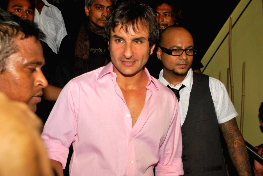 "Saif Ali Khan at the launch of Hakim's Aalim ""True Fitness"" Salon in Mumbai. - Saif Ali Khan"