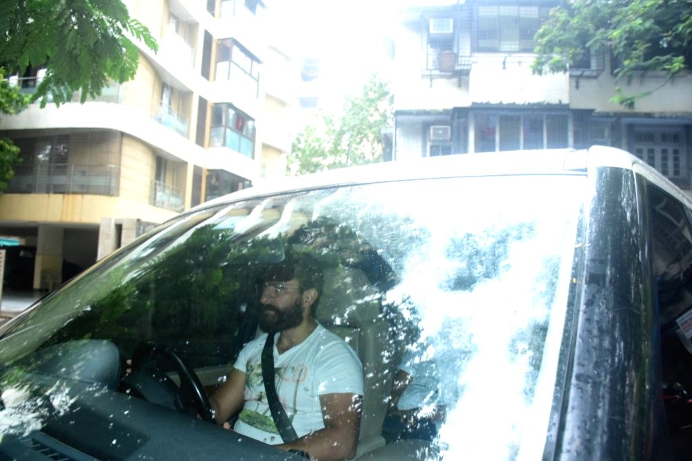 Saif Ali Khan Spotted In Bandra On Tuesday, 15 June,2021.