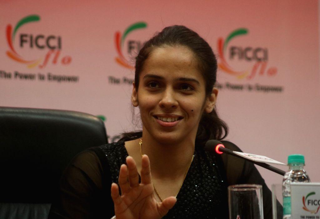 Saina Nehwal. (Photo: Bidesh Manna/IANS)