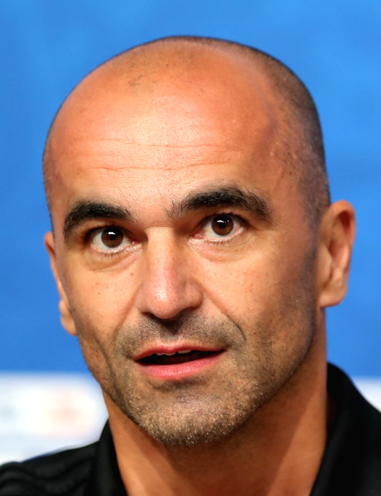SAINT PETERSBURG,July 9, 2018 Belgium's head coach Roberto Martinez attends a press conference prior to the 2018 FIFA World Cup semi-final between France and Belgium in Saint Petersburg, ...
