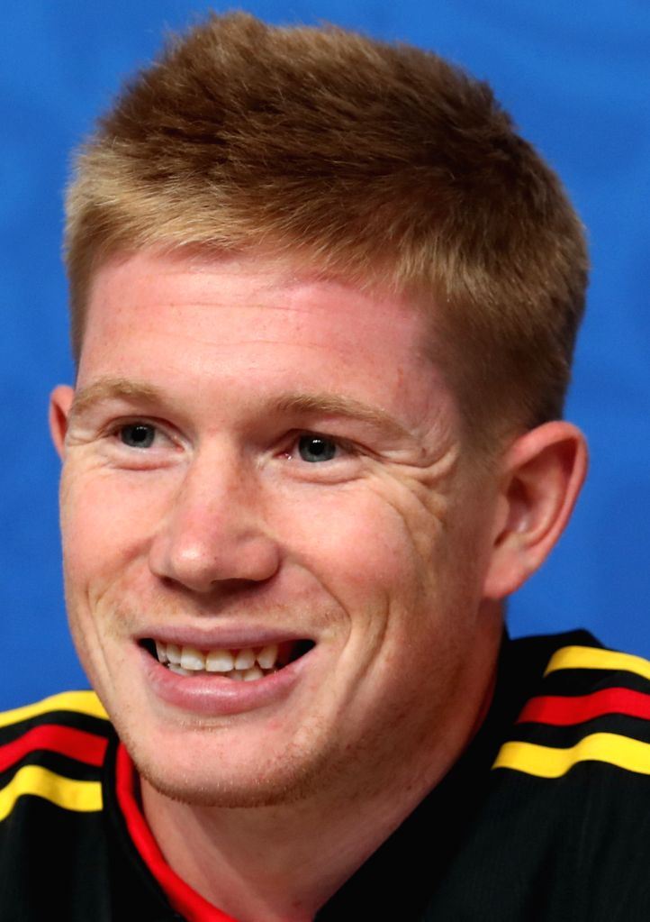 SAINT PETERSBURG,July 9, 2018 Belgium's Kevin De Bruyne attends a press conference prior to the 2018 FIFA World Cup semi-final between France and Belgium in Saint Petersburg, Russia on ...