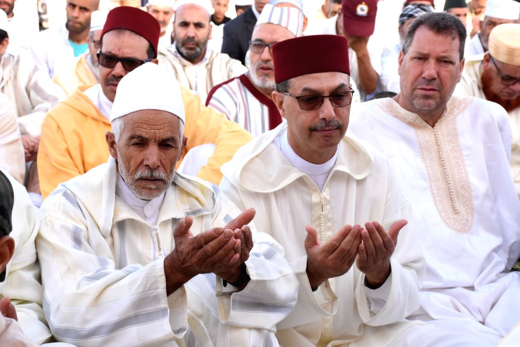 SALE (MOROCCO), Aug. 12, 2019 Muslims take part in the Eid al-Adha prayer in Sale, Morocco, on Aug. 12, 2019.